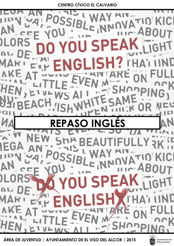 cartel taller ingles