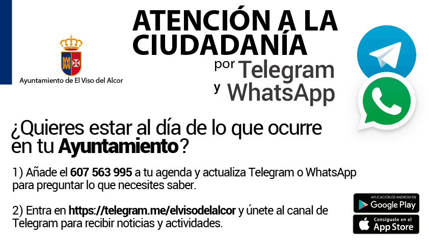 Participación por Telegram y WhatsApp